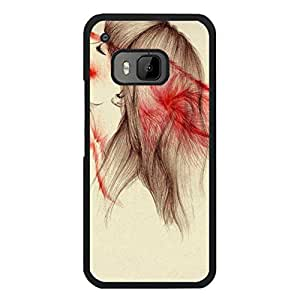 Htc One M9 Cover Case,Classical Fashion Werewolf Wolf Pattern Premium Quality Flexible Phone Back Case for Htc One M9