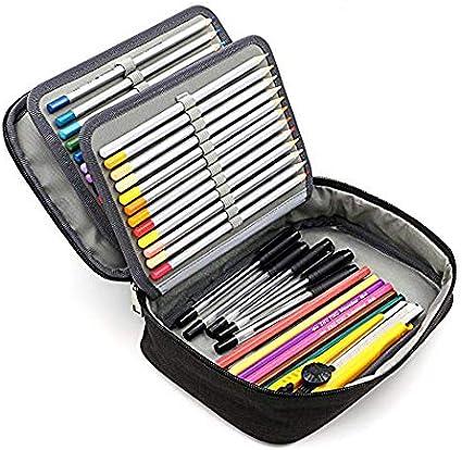 Estuche para lápices, 72 ranuras portalápices Caja de lápiz de Estudiantes Organizador Estuche: Amazon.es: Oficina y papelería