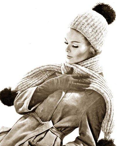 Ribbed Hat & Scarf Knitting Pattern Knit