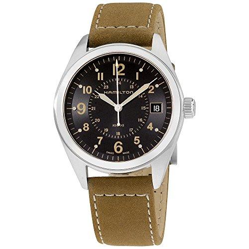 Hamilton Mens Quartz - Hamilton Men's H68551833 Khaki Field Analog Quartz Brown Watch