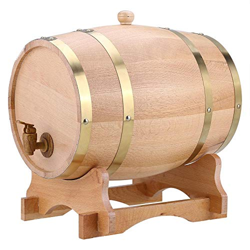 10L Vintage Wood Oak Timber Wine Barrel Dispenser American, used for sale  Delivered anywhere in USA