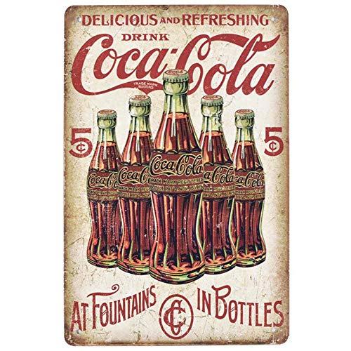(EffortLife Delicious and Refreshing Drink Coca Cola Retro Vintage Bar Signs Tin Sign Vintage 12 X 8 Inch)
