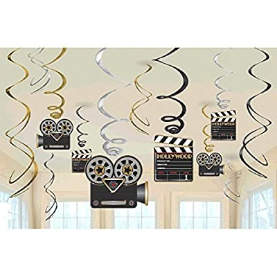 Lights! Camera! Action! Value Pack Party Foil Swirl Hanging Decorating Kit: Toys & Games