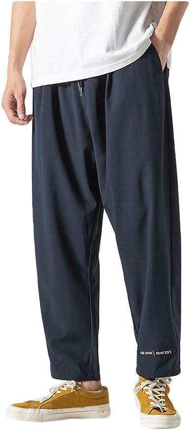 Pantalones Hombre Moda Pop Casual Tallas Grandes Chandal De Hombres Jogging Deportivos Color Solido Pants Trend Suelto Largo Pantalones Diseno De Personalidad Vpass Amazon Es Ropa Y Accesorios