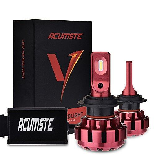 ACUMSTE LED Headlight Bulb Conversion Kit-H7, 60W 7200 Lumen H7 LED Headlight Bulb ,6000K Cool White (Professional System Strobe Led)