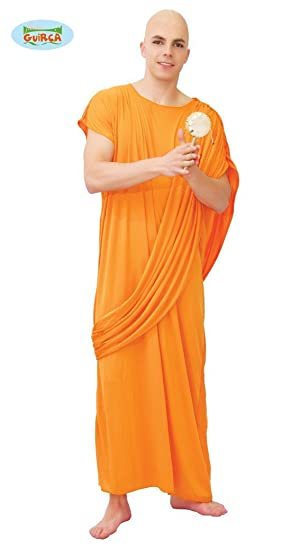 best authentic sleek best sell Mens Hare Krishna Buddhist Monk Robe Orange Cloak Religious Fancy Dress  Costume Large