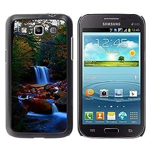 Caucho caso de Shell duro de la cubierta de accesorios de protección BY RAYDREAMMM - Samsung Galaxy Win I8550 - Waterfall Nature Forrest