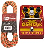 Orange Two Stroke Boost EQ Effect Pedal Footswitch w/Effin Tweed Cable - New