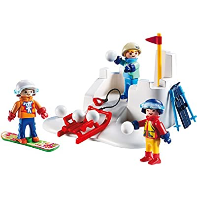 PLAYMOBIL Snowball Fight Building Set: Toys & Games
