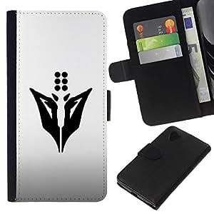 NEECELL GIFT forCITY // Billetera de cuero Caso Cubierta de protección Carcasa / Leather Wallet Case for LG Nexus 5 D820 D821 // Dots Abstract