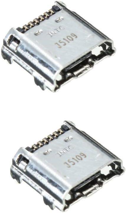 PHONSUN USB Charging Port Replacement for Samsung Galaxy Tab 3 P3200 P3210 T210 T210R T211 T217A T217T T217S (Pack of 2)