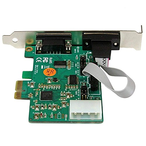 StarTech 2-Port Industrial PCI Express (PCIe) RS232 Serial Card with Power Output and ESD Protection (PEX2S553S) by StarTech (Image #2)