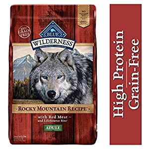Blue Buffalo Wilderness Rocky Mountain Recipe High Protein Grain Free, Natural Adult Dry Dog Food, Red Meat 22-lb 35
