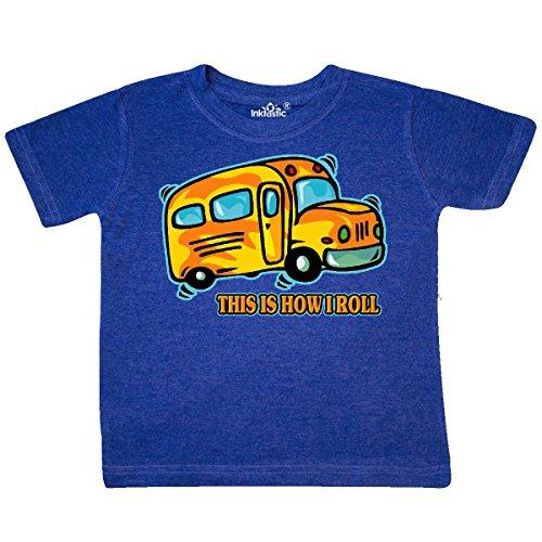 Baby School Tee High - inktastic - How I Roll School Bus Toddler T-Shirt 3T Retro Heather Royal 27d30