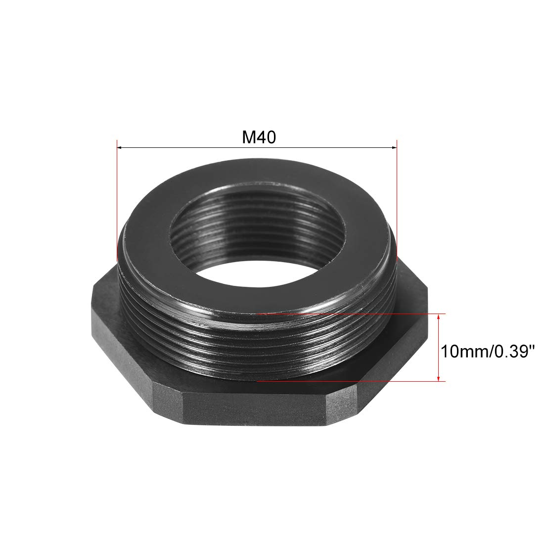 uxcell Threaded Reducing Bushings Nylon Connector Adaptor M40 Male Thread to M32 Female Thread Black