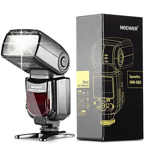 Neewer® NW580/VK750 Speedlite Flash Blitzgerät mit LCD Anzeiger für Canon Nikon Panasonic Olympus Pentax und andere Digital DSLR Kameras, wie z.B. Canon EOS 5D Mark III , 5D Mark II, 1Ds Mark 6D, 5D, 7D, 60D, 50D, 40D, 30D, 300D, 100D, 350D, 400D, 450D, 500D, 550D, 600D, 650D, 700D, 1000D, 1100D/EOS Digital Rebel, SL1, XT, Xti, Xsi, T1i, T2i, T3i, T4i, T5i, XS, T3; Nikon D4S D4 D3S D800 D700 D80 D90 D7000 D7100 D50 D40X D60 D5000 D5100 D5200 D5300 D40 D3000 D3100 D3200 D3300