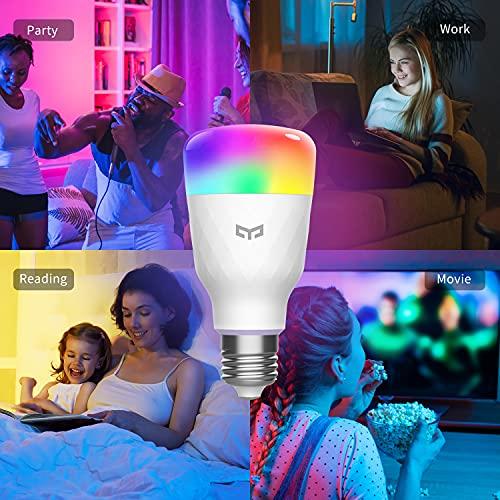 Smart Light Bulb, YEELIGHT LED Light Bulb, Color Changing Bulbs, Dimmable LED Bulb, Work with Razor Chroma, Apple HomeKit,Siri, Alexa & Google Assistant, SmartThings, Smart Home Lighting,1700K-6500K
