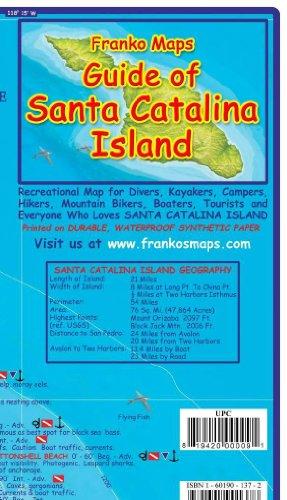 Santa Catalina Island California Adventure & Dive Guide Franko Maps Waterproof ()