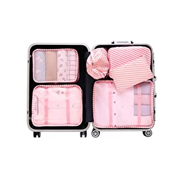 Amazon.com: 6PCS/SET Travel Luggage Packing Organizers Cubes ...