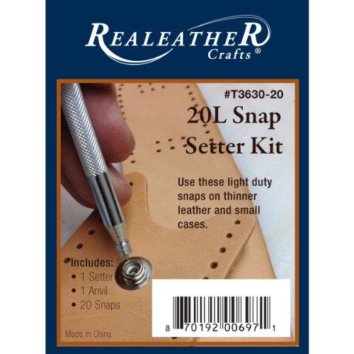 Silver Creek Realeather Crafts Snap Setter Kit, 20-Litter...