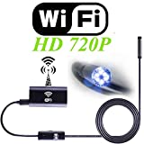 Zsjijia Wireless Endoscope, Depstech WiFi Lens Detection Camera720P Waterproof, Flexible HD Camera with 8 Adjustable LED Lamps for Android and IOS Smartphone, iPhone, Samsung, Tablet PC, PC
