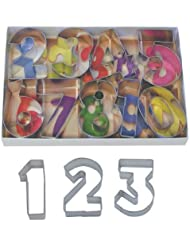 R&M International 1955 Numbers 2.5 Cookie Cutters with Cut-Outs, 9-Piece Set