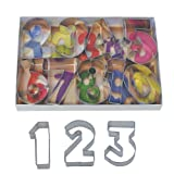 R&M International 1955 Numbers 2.5' Cookie Cutters with Cut-Outs, 9-Piece Set