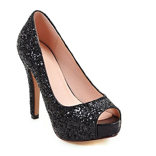 Sequin Peep Toe Platform - DecoStain Women's Sequins Thin High Peep-Toe Heel Sequin Fabric Platform Shoes Wedding Party Pumps Shoes
