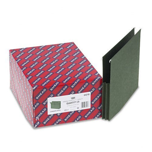 Smead : 1-3/4'' Capacity Hanging File Pockets w/Sides, Letter, Two-Tone Std Green, 25/Box -:- Sold as 2 Packs of - 25 - / - Total of 50 Each by Smead
