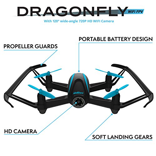 Force1 HD Drone with Camera – RC Camera Drones for Kids & Pros - U34W Dragonfly Drone with Camera Live Video, Altitude Hold & Wi-Fi FPV - Easy to Fly Quadcopter Drones for Beginners by Force1 (Image #2)
