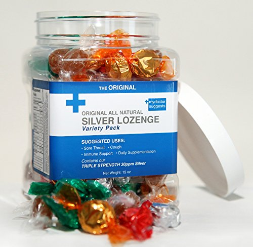 Original All Natural Silver Lozenges - Variety Pack: The Perfect Cough Drop for Cough, Throat & Mouth Health and Immune Support - Contains 30ppm Silver Solution in Each Drop