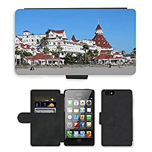 Hot Style Cell Phone Card Slot PU Leather Wallet Case // M00171581 Hotel Del Coronado San Diego Hotel // Apple iPhone 4 4S 4G