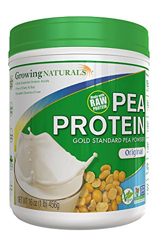 Growing Naturals Pea Protein Powder, Original, 16 Ounce by Growing Naturals