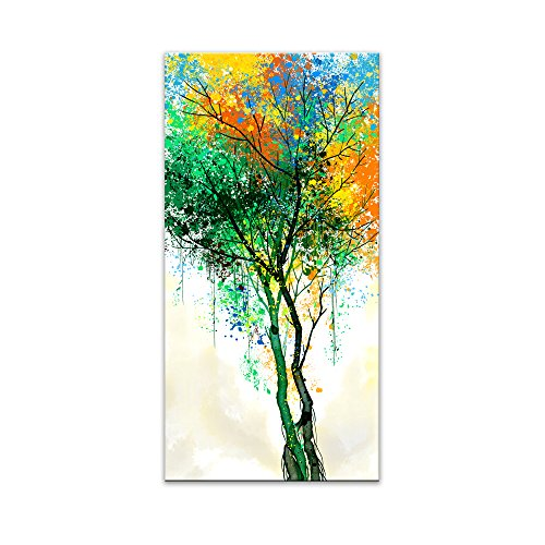 (JLXart Canvas Wall Art Green Tree Woods Landscape Wall Art Decor Canvas Print Paintings Wall Art for Living Room Bedroom Office Kitchen Abstract Artwork Large Canvas Art Size:20x40inch)