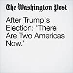 After Trump's Election: 'There Are Two Americas Now.' | William Wan,Tanya Sichynsky,Sandhya Somashekhar