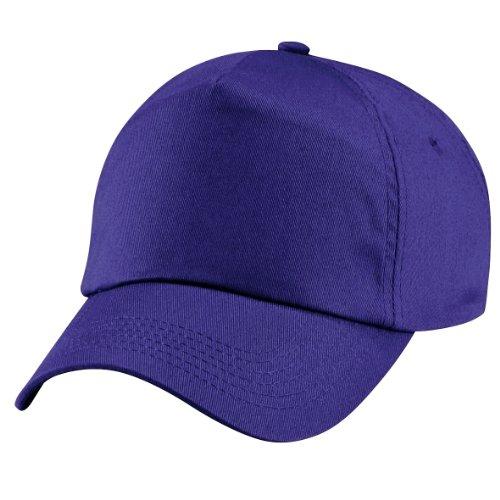 Beechfield - Gorra lisa con 5 paneles para niños/adolescentes Púrpura