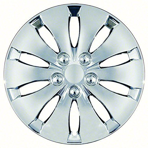 Aftermarket Wheel Covers; 16 Inch; Chrome Finish; Abs; 10 Spoke;