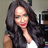 Best African American Wigs - Anshinto Womens Dark Brown Brazilian Hair African American Review