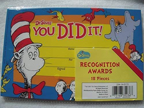 Dr. Seuss You Did It! Recognition -