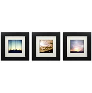 3 set tiny mighty frames wood square instagram photo frame 6x6