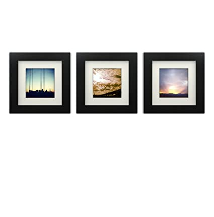 Amazon.com - 3-set, Tiny Mighty Frames - Wood Square Instagram Photo ...