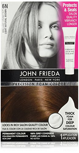 John Frieda Precision Foam Colour, Light Natural Brown 6N (Packaging may vary) (Best Foam Hair Color)