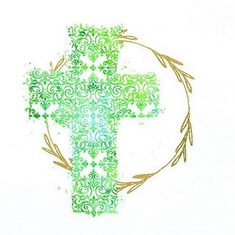 20 Servietten Heiliges Kreuz Grün Zur Taufe Kommunion Und