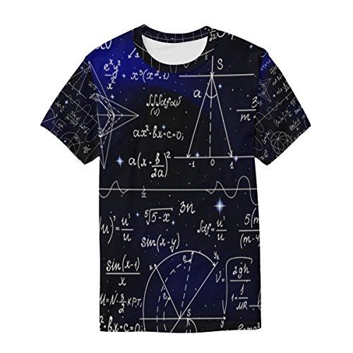 Mathematical Alaza Multicolor casual Formulas da uomo manica corta Maglietta YxwqgZ7
