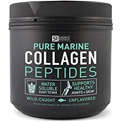 Premium Marine Collagen Peptides (12oz) from Wild-Caught Snapper   Certified Paleo Friendly, Non-Gmo Project Verified and Gluten Free - Unflavored and Easy to Mix