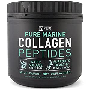 Premium Marine Collagen Peptides (12oz) from Wild-Caught Snapper | Certified Paleo Friendly, Non-Gmo and Gluten Free - Unflavored and Easy to Mix