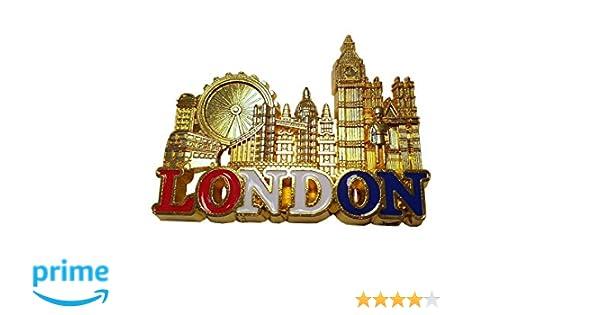 Imán Nevera Metal Londres - color dorado, ojo y puente de torre ...
