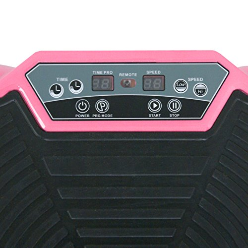 SUPER DEAL Crazy Work Out Fit Full Body Vibration Platform Massage Machine Fitness W/Bluetooth, Pink by SUPER DEAL (Image #5)