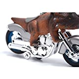 BigNoseDeer dinosaur motorcycle toys - animal friction motorcycles toys dinosaurs Triceratops 7.1