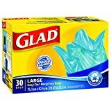 Glad Easy-Tie Large Recycling Blue Bags, 30 ct.